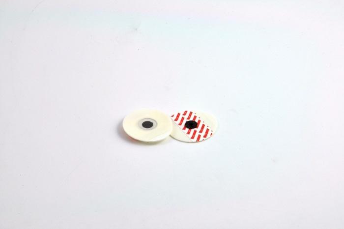 Disposable ECG Snap electrode general use, 43 x 38mm Teardrop / Foam /Solid gel (Bag of 30)
