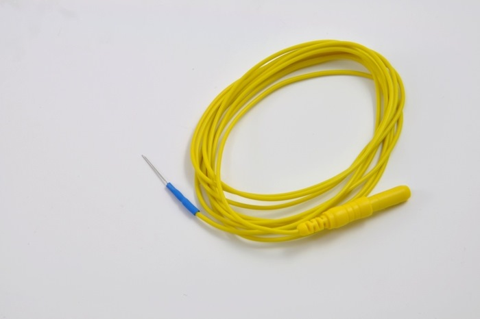 Disposable Subdermal EEG Needle, 12 mm, 0.4mm diameter (27 gauge) 150cm cable, colour-coded, (box of 24) (Replace 019-409800).