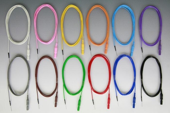Disposable Subdermal Needle, 13mm, diameter 0,4mm, Wire 150 cm, 24 pcs in green colors. FRSH.