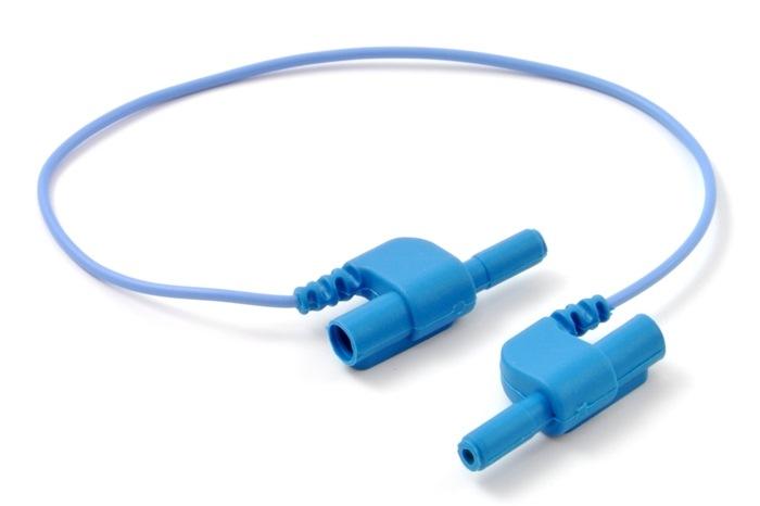 Electrode connection Linker/Jumper, TouchProof, 15cm, blue