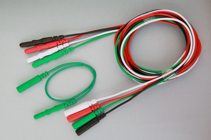 Extension cable 150cm for Subdermal Needle Electrode and 2022, 6 pcs with 6 individual colors, Color set P1.  FRSH.