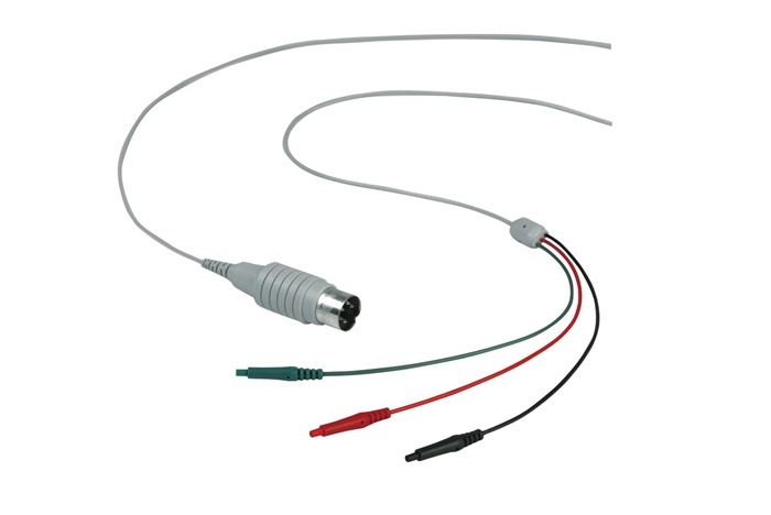 HUSH™ Shielded Electrode Cable, 3x0.7 mm female, 1m .