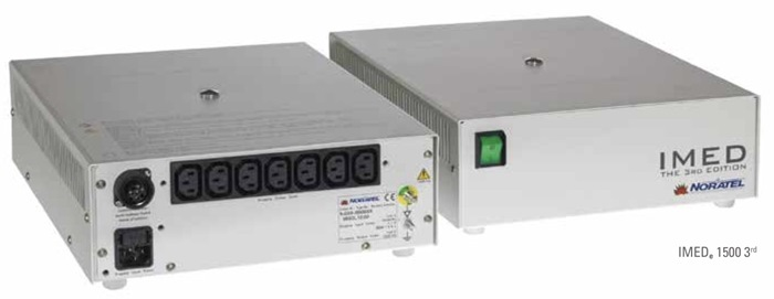 ISO-trafo, 3rd. edition IMEDe 1000W - medical transformers, IP21, 7 outlet (Size: W285 x H109 x D344mm)