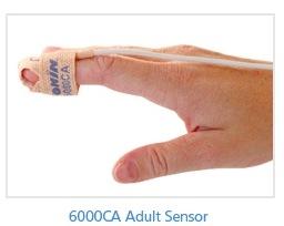 Nonin - Cloth Disposable SpO2 Sensor-Adult, 6000CA, Box of 24 (3 ft. / 1 meter)
