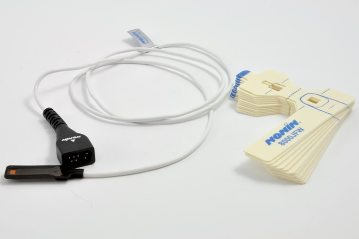 Nonin SpO2 FlexSensor Adult, 1m lead. Incl. 25 FlexiWrap Adhesive tape 8000JFW (0741-000).