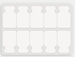 Tab adhesive electrode w/ Conductive Adhesive Hydrogel 22*22mm (Bag of 100 pcs).