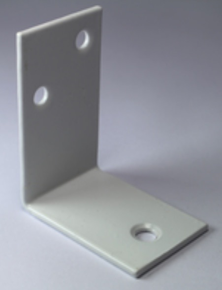 Tuxedo - 90-degree Angled Bracket White (55mm x 30mm x45mm) for locking of ISO-trafo in ISO-Box