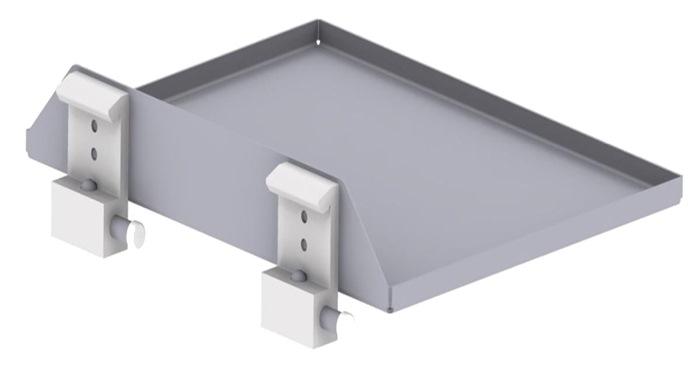 Tuxedo - Shelf for Trolley stainless steel - W300 x D240 x incl. 2x Hospital claws