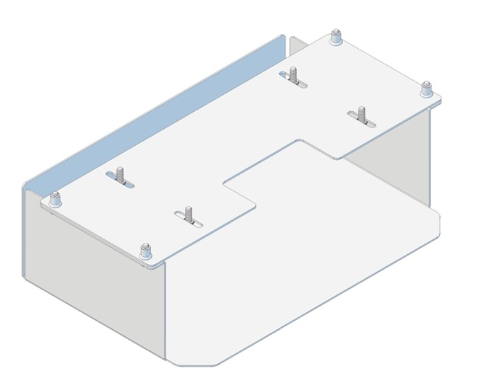 Tuxedo Box for ISO-trafo, use with IMED 3rd. edition, Nicolet ISO-Trafo and others - for Trolley/Cart