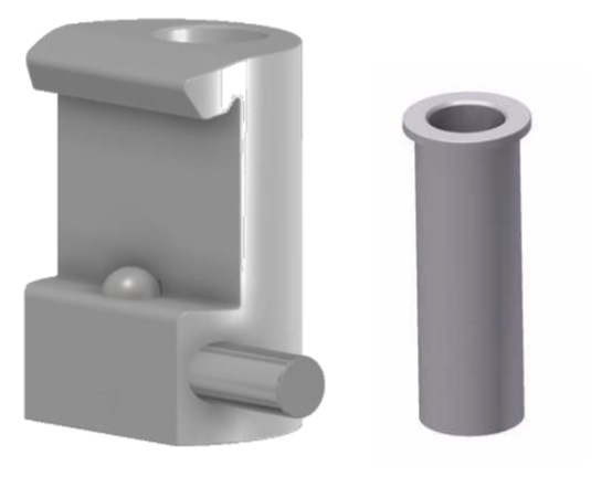 Tuxedo Claw with Ø13mm hole, for 10x30mm Medical-Rails