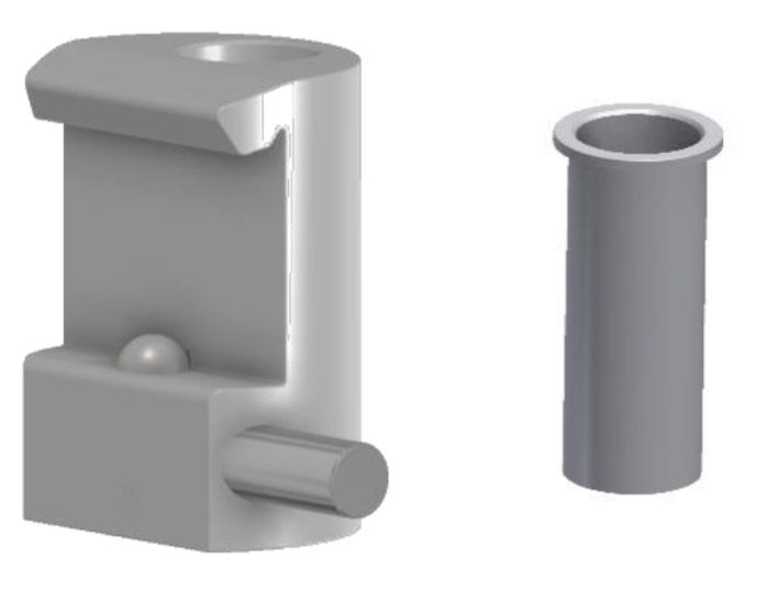 Tuxedo Claw with Ø16mm hole, for 10x30mm Medical-Rails