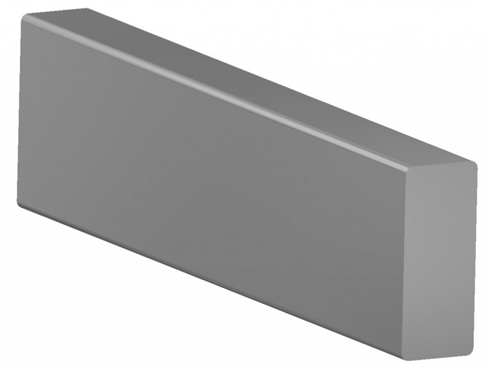 Tuxedo Medical-Rail 10x25mm (Custom length: 0-3000mm incl. End-plugs) Specify length in mm with order)