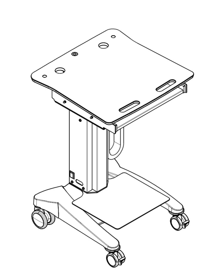 Tuxedo Printer Shelf W380mm x D300 for Trolley