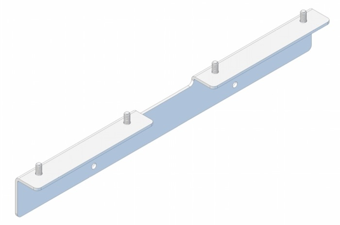 Tuxedo Rear mounting bracket (90 degree) - for mounting of Medical-Rails on backside of Trolley
