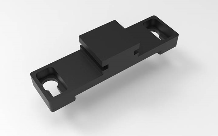 Tuxedo Stratus EEG R40 amplifier bracket for Hospital Rail claw with T-slot. Use with Stratus R40 amplifier